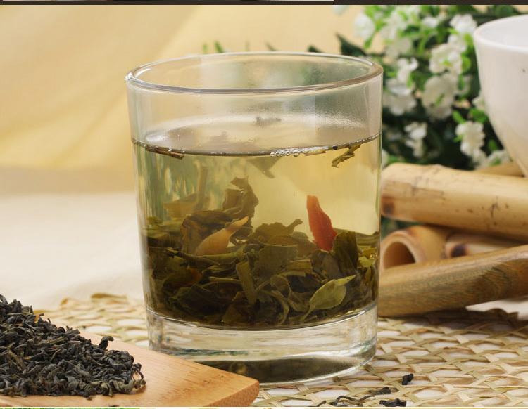 玉兰花茶,采用优质五指山春绿茶与优质白玉兰鲜花为