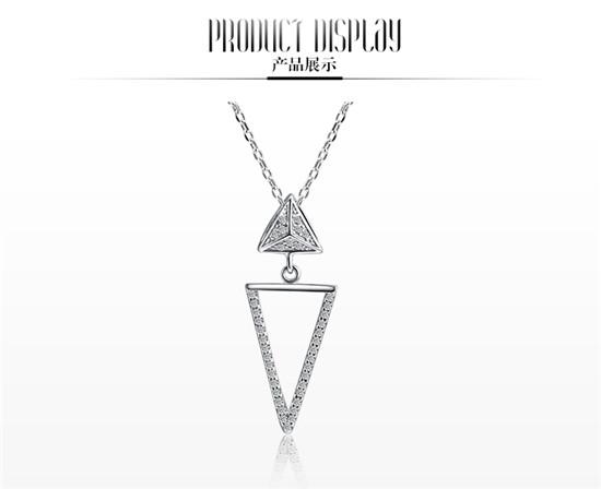 爱恋珠宝三角形项链